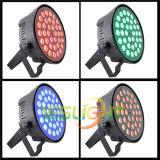 가정 당 빛을%s 플라스틱 LED 동위 빛 호리호리한 주거 36PCS*3W 세 배 RGB LEDs