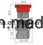 セリウムが付いている22mmの緊急時のタイプ押しボタンスイッチ