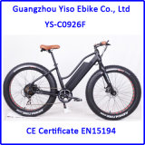 """26 """" 250W 350W 500W 무브러시 모터를 가진 4.0 타이어 전기 뚱뚱한 자전거"""