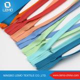 Numéro 3 tirette invisible personnalisée d'extrémité ouverte de nylon de longueur de bande