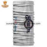 Bandana multifunzionale all'ingrosso di bianco del poliestere di modo