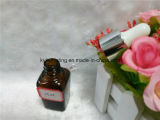 frasco de petróleo essencial quadrado de 25ml Brown com conta-gotas branco (EOB-17)