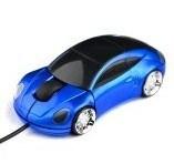 Souris câblée électronique en forme de voiture pour jeux informatiques