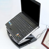 10-17 Zoll-faltbarer Laptop-Standplatz mit 4 Portnabe USB-2.0 mit Ventilator