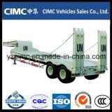 半Cimc 40ton 2つの車軸が付いている低いベッドのトレーラー