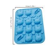 Molde material de la torta del silicón de la categoría alimenticia del certificado del FDA, molde formado zanahorias Miffy de la torta del silicón del conejo