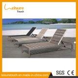 高品質のアルミニウムフレームの屋外のテラスの庭の家具のChaiseのラウンジ、ラウンジチェア、余暇浜浜のサンルームの椅子