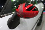 아주 새로운 아BS 소형 술장수 R56-R61를 위한 고품질 탄소 미러 덮개를 가진 플라스틱 UV 보호된 발랄한 작풍 빨간 연합 국기 색깔