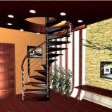 階段ステンレス鋼のステアケースのバルコニーまたは屋内で