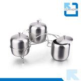 Tipo del ponticello 3 parti di alta qualità 304 del sale dell'acciaio inossidabile e vaso del pepe