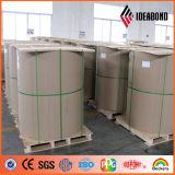 La couleur d'Ideabond PVDF a enduit la bobine en aluminium pour le revêtement en aluminium de mur