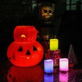 De veelvoudige LEIDENE Zonder vlammen van Kleuren Elektronische Kaarsen van de Kaars voor Halloween of Decoratie
