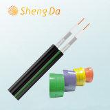 Câble coaxial de PVC à grande vitesse de communication numérique et de télécommunications Rg59