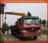 6荷車引き5ton Dongfengのクレーンが付いているクレーンによって取付けられる貨物自動車のトラック