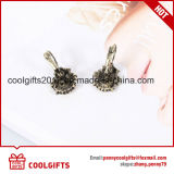 Orecchini di cristallo variopinti del partito dei monili della clip dell'orecchio del fiore della lega delle signore