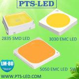 3V 6V 9V 18V 27V 36V 48 EMC 2835 Lm 80를 가진 0.2W 0.5W 0.6W 1W에 있는 3030 SMD LED