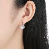 새로운 사랑의 백금에 의하여 도금된 원형은 충분히 여자 형식 보석을%s 합금 귀걸이를 매단다