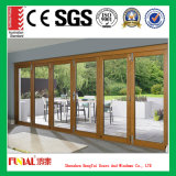 Double porte en aluminium de patio en verre Tempered