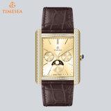스위스어 Movement72537와 가진 가장 새로운 고품질 호화스러운 남자의 시계 사각 시계