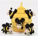 Giocattolo su ordinazione della peluche dell'ape della fabbrica verificato ICTI