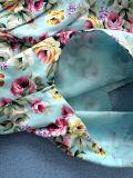Neckline modificado para requisitos particulares de V más la alineada de partido floral de la talla para las mujeres