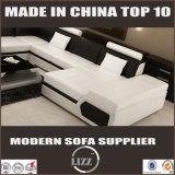 Schnittform-Leder-Sofa der sofa-gesetzte Entwurfs-modernes Möbel-U