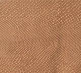 Прочная выбитая Fuax кожа драпирования PVC PU для мешка (H199)