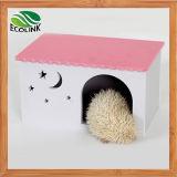 Casa impermeável Multicolour do chalé ecológico da casa do brinquedo do furo de coelho da gaiola da cobaia da gaiola do Hedgehog