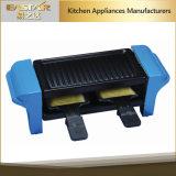 Griglia elettrica antiaderante di Raclette del formaggio del marmo variopinto moderno di disegno