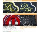 3D刺繍バッジかパッチ+フットボールの摩耗またはサッカーのジャージーの熱の出版物パッチの刺繍のパッチ衣服のラベルのための熱伝達を群がらせる