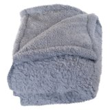 Cozy Soft Quilted Throw / Sherpa Fleece Blanket à double couche
