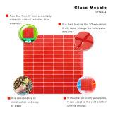 El mosaico manchado rojo del precio de fábrica del corte de la mano junta las piezas de los azulejos de cristal
