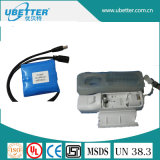 18650 блок батарей лития 7.4V 3000mAh для проблескового света