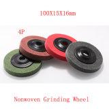 100X15 4pのNonwoven粉砕ディスク緑のスカウラーのパッド