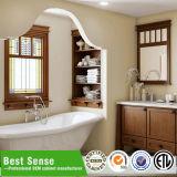Diseño moderno de la cabina de cuarto de baño con el espejo