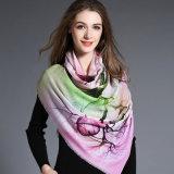 Impressão de Digitas, lenço de lã para mulheres