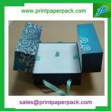 Caja de cartón de papel de encargo de Foadable del rectángulo de papel de la impresión en offset que empaqueta el rectángulo de regalo impreso