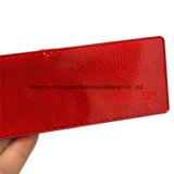 Refletor de advertência vermelho/branco da estrada retangular do veículo do plástico