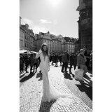 Поезда стреловидности втулок Berta мантия венчания платья шнурка Mermaid длиннего Backless (Dream-100105)