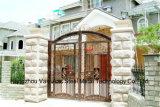 Haohanの良質の外部の機密保護の装飾的な錬鉄の塀のゲート16