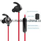 Auscultadores sem fios Bluetooth Desportivo Brincos com fone de ouvido intra-auriculares com microfone para o exercicio de corrida à prova de transtorno