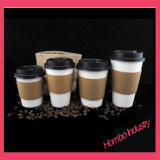 Papiercup des Matt-Oberflächen-heißen Kaffee-Biologisch abbauen-WINKEL DES LEISTUNGSHEBELS (NEW&HOT TYP)