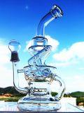 Труба водопровода новых буровых вышек ЛИМАНДЫ яичка Faberge Recycler Pyrex боросиликата прибытия 8 смешанных стеклянная куря