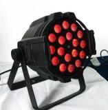 18 het PARI van de Was van het Gezoem van de LEIDENE Stroboscoop van DMX kan 6in1 RGBWA UV