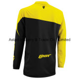 Motocicleta amarela do t-shirt da equitação através dos campos da cor que compete Jersey (MAT59)