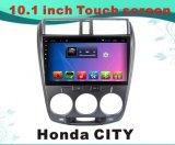 ホンダ都市のための人間の特徴をもつシステム車のDVDプレイヤーBluetooth/WiFi/GPSの10.1インチキャパシタンススクリーン