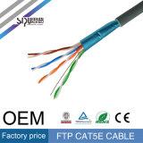 Cable de LAN aprobado de Sipu CCC/Ce/RoHS SFTP Cat5e para la red