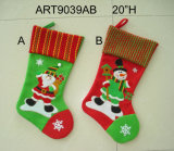 Decorazione di natale, Santa e pupazzo di neve Stocking-2asst