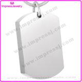Unbelegte Stahlhundeplakette-Urne-hängende Halskette für Haustier verascht Andenken-Halter-Verbrennung-Schmucksachen (IJD8416)