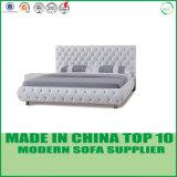 침실을%s 현대 우아한 디자인 진짜 가죽 침대